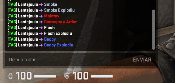 [CS:GO]Замена сообщений о гранатах / BananaGaming - Grenades Messages